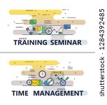 training seminar and time... | Shutterstock . vector #1284392485
