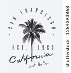 slogan with palm tree... | Shutterstock .eps vector #1284393868