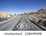 Joshua Tree Highway With Route...