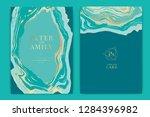 wedding invitation  rsvp  thank ... | Shutterstock .eps vector #1284396982