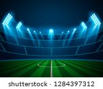 football arena field with... | Shutterstock .eps vector #1284397312