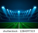football arena field with... | Shutterstock .eps vector #1284397315