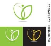 life coaching logo design.... | Shutterstock .eps vector #1284398122