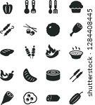 solid black vector icon set  ... | Shutterstock .eps vector #1284408445
