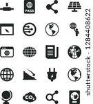 solid black vector icon set  ... | Shutterstock .eps vector #1284408622