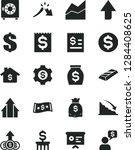 solid black vector icon set  ... | Shutterstock .eps vector #1284408625