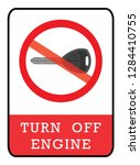 turn off engine icon no key... | Shutterstock .eps vector #1284410755