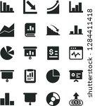 solid black vector icon set  ... | Shutterstock .eps vector #1284411418