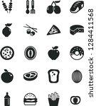 solid black vector icon set  ... | Shutterstock .eps vector #1284411568