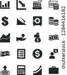 solid black vector icon set  ... | Shutterstock .eps vector #1284416182