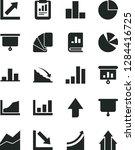 solid black vector icon set  ... | Shutterstock .eps vector #1284416725
