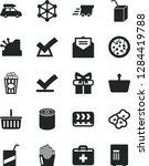 solid black vector icon set  ... | Shutterstock .eps vector #1284419788