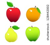 four miscellaneous fruits  ... | Shutterstock .eps vector #128442002