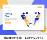 landing page template of... | Shutterstock .eps vector #1284420592