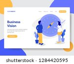 landing page template of... | Shutterstock .eps vector #1284420595
