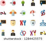 color flat icon set   holy... | Shutterstock .eps vector #1284425575
