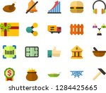 color flat icon set  ... | Shutterstock .eps vector #1284425665