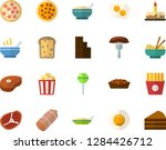 color flat icon set   cake flat ... | Shutterstock .eps vector #1284426712