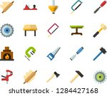color flat icon set   rolling... | Shutterstock .eps vector #1284427168
