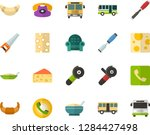 color flat icon set   cheese... | Shutterstock .eps vector #1284427498
