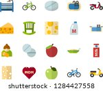 color flat icon set   mothers... | Shutterstock .eps vector #1284427558