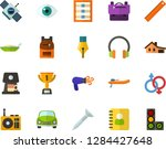 color flat icon set   ink pen... | Shutterstock .eps vector #1284427648