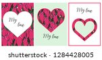 greeting card with a heart of...   Shutterstock .eps vector #1284428005