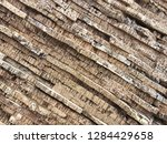 decorative wooden wall... | Shutterstock . vector #1284429658