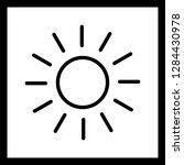 vector sun icon  | Shutterstock .eps vector #1284430978