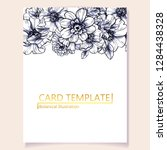 invitation greeting card with... | Shutterstock .eps vector #1284438328
