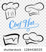 set sketch of chef hats  at... | Shutterstock .eps vector #1284438535