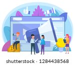 advertisement agency  online... | Shutterstock .eps vector #1284438568