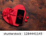 valentine's day greeting card... | Shutterstock . vector #1284441145