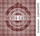 moth eaten red seamless emblem... | Shutterstock .eps vector #1284443995