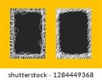 set of hand drawn doodle frames ... | Shutterstock .eps vector #1284449368