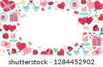 valentines day background with... | Shutterstock .eps vector #1284452902