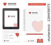 heart  business logo  tab app ...   Shutterstock .eps vector #1284458575