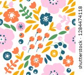 vector seamless pattern with... | Shutterstock .eps vector #1284474118
