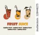cocktail drink fruit juice | Shutterstock .eps vector #128448275