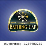 shiny emblem with business... | Shutterstock .eps vector #1284483292