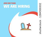 join our team. busienss company ... | Shutterstock .eps vector #1284500332