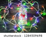 valentines day background with... | Shutterstock . vector #1284509698