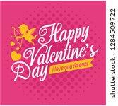romantic valentine greeting...   Shutterstock .eps vector #1284509722