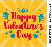 valentine greeting card with...   Shutterstock .eps vector #1284509725