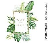tropical exotic watercolor... | Shutterstock . vector #1284512668