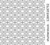 seamless monochrome interlaced...   Shutterstock .eps vector #1284518752
