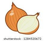 bombay onions sliced | Shutterstock .eps vector #1284520672