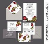 wedding invitation card... | Shutterstock .eps vector #1284526078