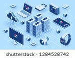 computer technology isometric... | Shutterstock .eps vector #1284528742