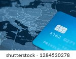 traveling concept with credit... | Shutterstock . vector #1284530278